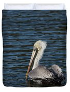 Brown Pelican Duvet Cover by Jemmy Archer