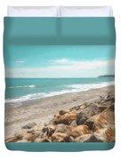 Bruce Bay New Zealand Painterly Duvet Cover