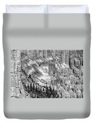 Bryce Canyon National Park Bw Duvet Cover