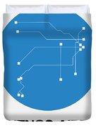 Buenos Aires Blue Subway Map Duvet Cover
