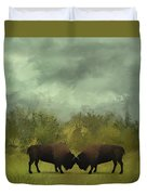 Buffalo Standoff - Painting Duvet Cover