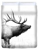 Bull Elk In Rut Duvet Cover
