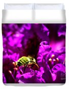 Bumble Bee On A Rhodedendron  Duvet Cover