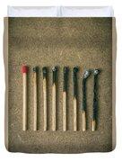 Burnt Matches Duvet Cover