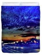 Bus Stop Sunrise Duvet Cover