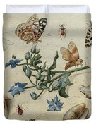 Butterflies, Clams, Insects Duvet Cover