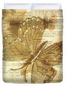 Butterfly Antiquities Duvet Cover
