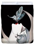 Butterfly Kiss French Art Deco Flapper Woman Duvet Cover