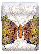 Butterfly Zen Meditation Abstract Digital Mixed Media Artwork By Omaste Witkowski Duvet Cover by Omaste Witkowski