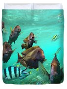 Butterflyfish And Sergeant Major Duvet Cover