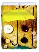 Button Storm Duvet Cover