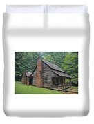 Cabin In The Woods - Fractals Duvet Cover