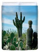 Cactus Twins Have Company Duvet Cover