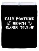 Calf Pasture Beach Norwalk Duvet Cover