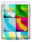 California Pop Art Panels Duvet Cover