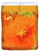 California Poppy Inside Duvet Cover