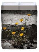 California Poppy Trying Duvet Cover