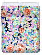 California Rose Garden Duvet Cover