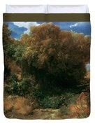 Campagna Landscape 1858 Duvet Cover