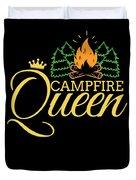 Campfire Queen Camping Caravan Camper Camp Tent Duvet Cover