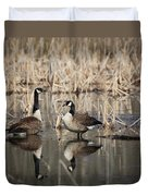 Canada Geese On The Marsh Duvet Cover by Jemmy Archer