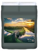 Canal Sunrise Duvet Cover