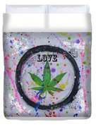 Cannabis With Love Duvet Cover