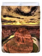 Canyons Bend Vertical  Duvet Cover