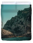 Capri Lighthouse Duvet Cover