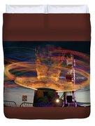 Carnival Rides Motion Blur Duvet Cover