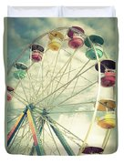 Carolina Beach Ferris Wheel Duvet Cover