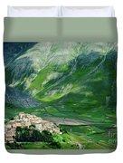 Castelluccio Duvet Cover by Brian Jannsen