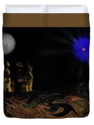 Castle In The Night Duvet Cover