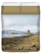 castle Stalker in late autumn Duvet Cover