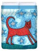 Cat By Starlight Duvet Cover