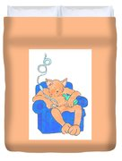 Cat Has Just Lost One Life Has Eight Lives Left Cartoon Duvet Cover
