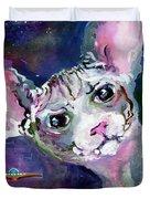 Cat Portrait My Name Is Luna Duvet Cover