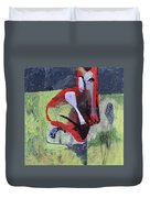 Cat With Other Garden Animals Duvet Cover