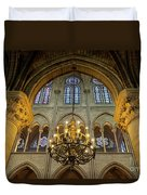 Cathedral Notre Dame Chandelier Duvet Cover by Brian Jannsen