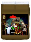 Cats Are Wild Poker Duvet Cover
