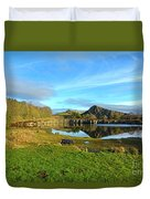 Cawfield Quarry And Hadrians Wall In Northumberland Duvet Cover