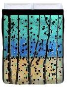 Celebration - Abstract Landscape  Duvet Cover