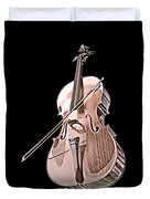 Cello String Music Instrument Musician Color Designed Duvet Cover
