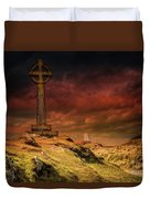 Celtic Cross Llanddwyn Island Duvet Cover