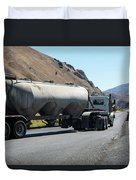 Cement Truck Turning Duvet Cover