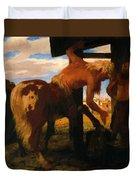 Centaur At The Village Blacksmith Shop 1888 Duvet Cover