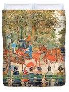 Central Park 1901 - Digital Remastered Edition Duvet Cover
