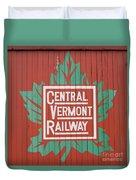 Central Vermont Railway Duvet Cover
