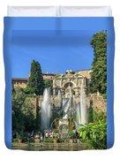 Fountain Of Neptune Duvet Cover
