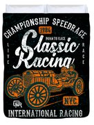 Championship Speed Race Classic Racing Duvet Cover